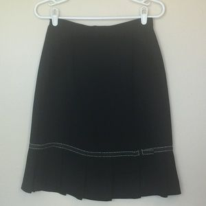 Vintage MICHELE A-Line Skirt with Pleated Hem S